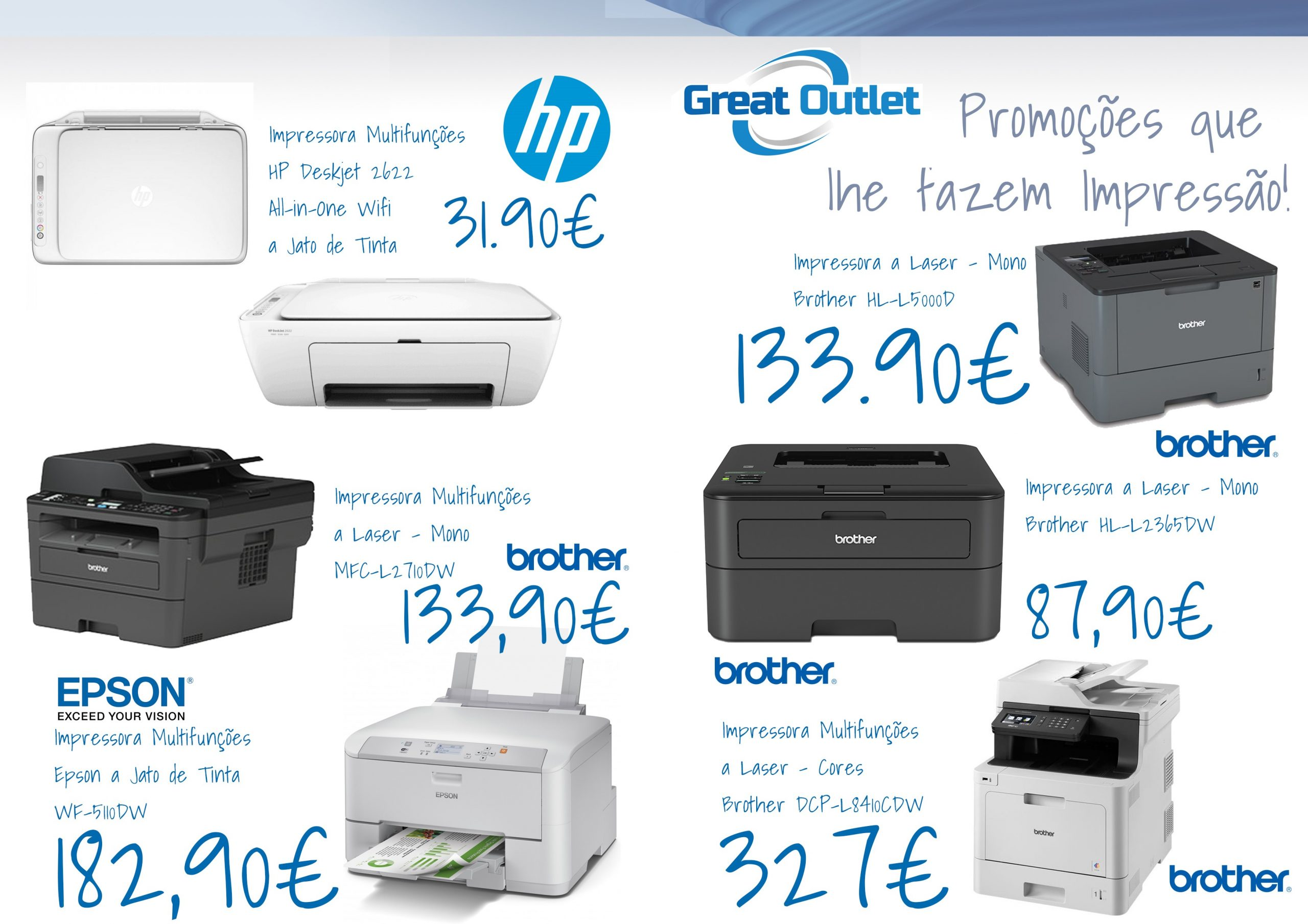 Campanha Great Outlet impressoras